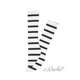 1/3 Boy short socks - AS003 011 (B/W stripe)