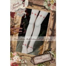 1/4 Socks - ♣Bloody Fairytales♣ BFS171001 Cross marks ☆ (New Slim cutting)