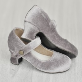 1/4 MSD Girl Velvet Wine Glass Heels  [BLS006] Grey