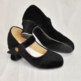 1/4 MSD Girl Velvet Wine Glass Heels  [BLS006] Black