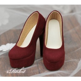 [Pre]1/3 Girl & SD16 [Coven Two]+[Suede Wine] High heel Platform pumps shoes