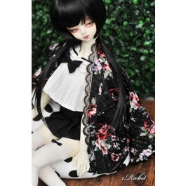 [Limited] 1/3 Haori Coat 羽織 - Black Rose Thorn