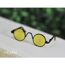 1/3 Sun Glasses - Circle Shape - Yellow