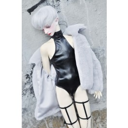 SD17/popo68 Latex swimsuit DF004 001 (Smooth Black leather)