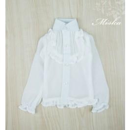 MISKA*1/4 Chiffon Lotus Shirt   - MSK010 001