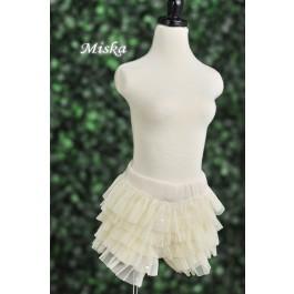 MISKA*1/3 Shiny Lace Pants - MSK024 002