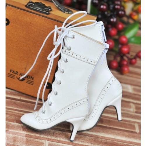 1/4 - MSD/MDD/MiniFee/AngelPhillia - Antique high heels pumps boot BLS008 - White