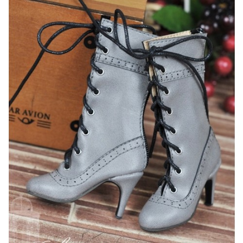 1/4 - MSD/MDD/MiniFee/AngelPhillia - Antique high heels pumps boot BLS008 - Grey