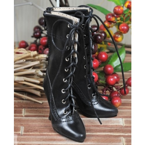 1/3 Girls - SD16/13/10/ DD fit - Antique high heels pumps boot BLS008 - Black