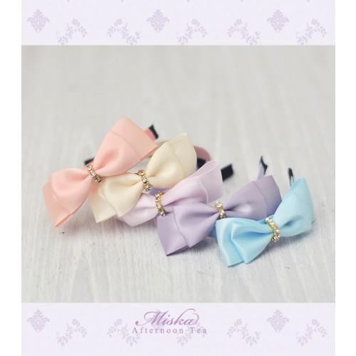 MISKA*1/3 Ribbon Headband * MSH002 - Blueberry