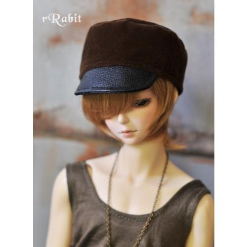 1/3 [Velvet Kepi Hat] AS005 003 (Brown)