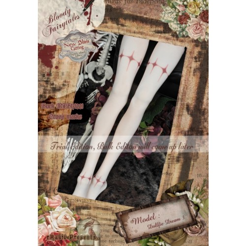 1/3 Socks - ♣Bloody Fairytales♣ BFS171001 Cross marks ☆ (New Slim cutting)