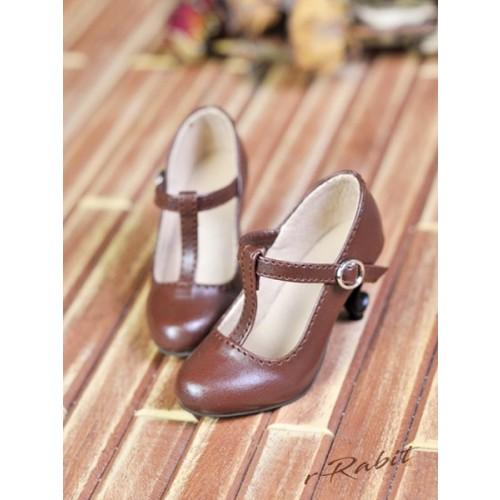 1/4 Highheels/MDD/AP/minifee/Unoa T-straps high heels [BLS009] - Candy Brown
