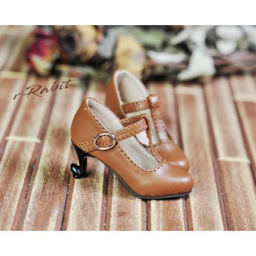 [Pre]1/4 Highheels/MDD/AP/minifee/Unoa T-straps high heels [BLS009] - Toffee