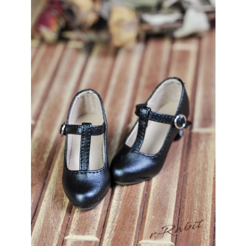 [Pre]1/3Girls Highheels/DD T-straps high heels [BLS009] - Black
