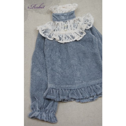 1/3 Velvet lace top - BSC020 1603  (Velvet Grey with Beige lace)