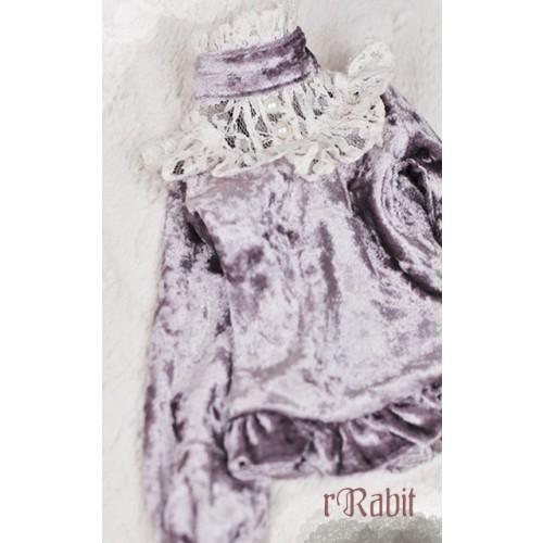 1/4 Velvet lace top - BSC020 1703 (Velvet Lavender with Beige lace)