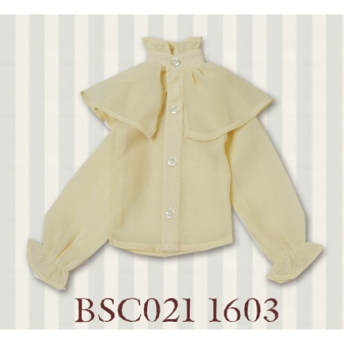1/3 SD10/16/DD size 1/3 Girl & Slim Boy*Alice Shirt*BSC021 1603 (Cream Yellow)
