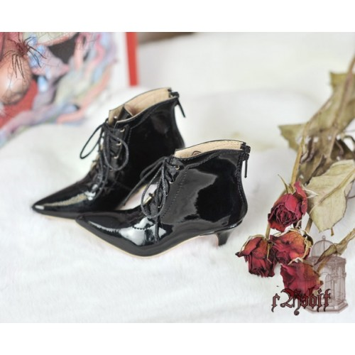[Pre]1/4 HighHeels/MDD/AP/Minifee/Unoa+ Pointed Toe Ankle Boots [Coven Three] - Flash Black