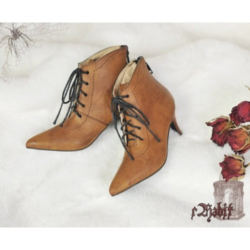 [Pre] 1/3 Girls Highheels /DD+ Pointed Toe Ankle Boots [Coven Three] - OldBrown