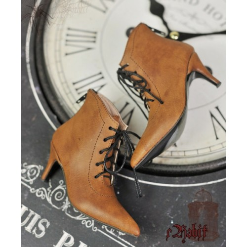 1/4 HighHeels/MDD/AP/Minifee/Unoa+ Pointed Toe Ankle Boots [Coven Three] - OldBrown
