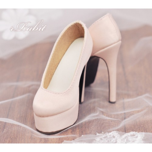 [Pre]1/3 Girl & SD16 [Coven Two]+[Shell Pink (Satin)] High heel Platform pumps shoes
