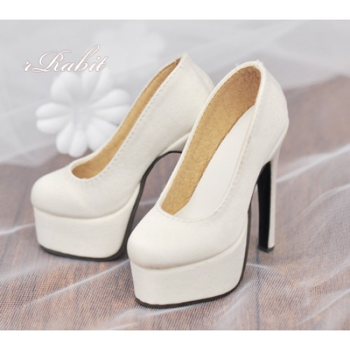 1/3 Girl & SD16 [Coven Two]+[Creamy White (Satin)] High heel Platform pumps shoes