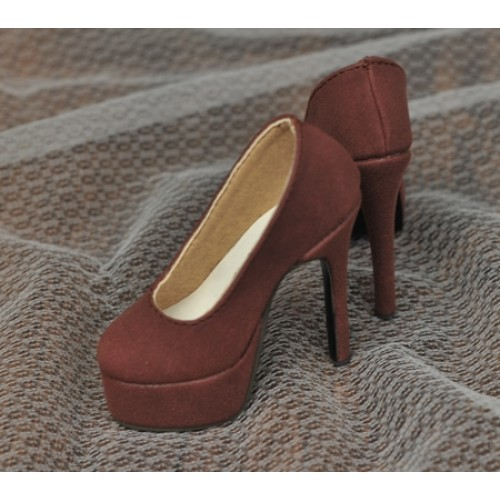1/3 Girl & SD16 [Coven Two]+[Suede Wine] High heel Platform pumps shoes