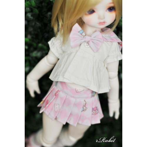 1/3 Girl SD13/10 DD - Sailor Cute Dress Set - CP010 011 (Pink check)