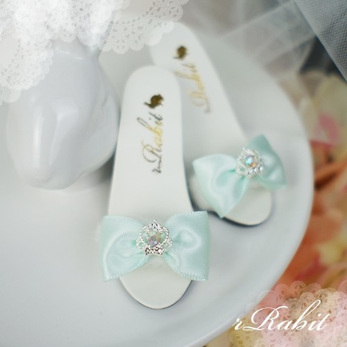 1/3 Girls SD16/13 DD - Crown & Ribbon high-heeled Sandals Plush shoes - CPS001 Mint