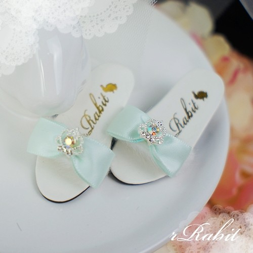 1/4 MSD MDD AngelPhilia- Crown & Ribbon high-heeled Sandals Plush shoes - CPS001 Mint
