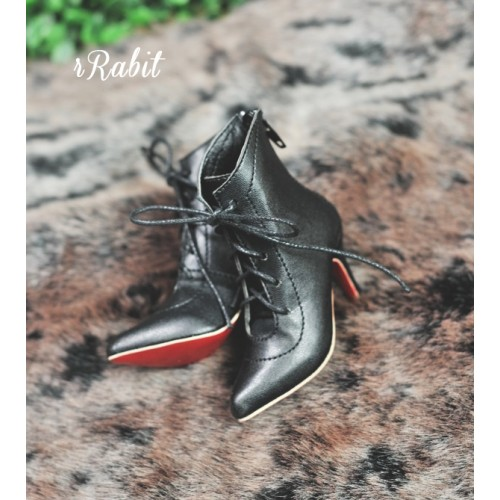 1/3 Girls Highheels /DD+ Pointed Toe Ankle Boots [Coven Three] - Black