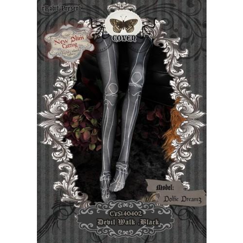 1/3 Socks - ♣COVEN♣ CVS140402 Devil Walk -Black ☆ (New Slim cutting)