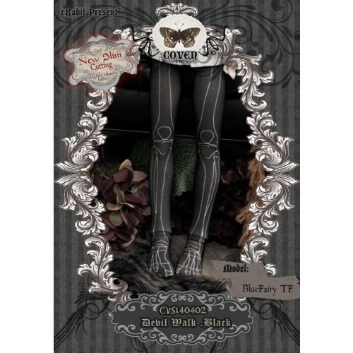 1/4 Socks - ♣COVEN♣ CVS140402 Devil Walk -Black ☆ (New Slim cutting)