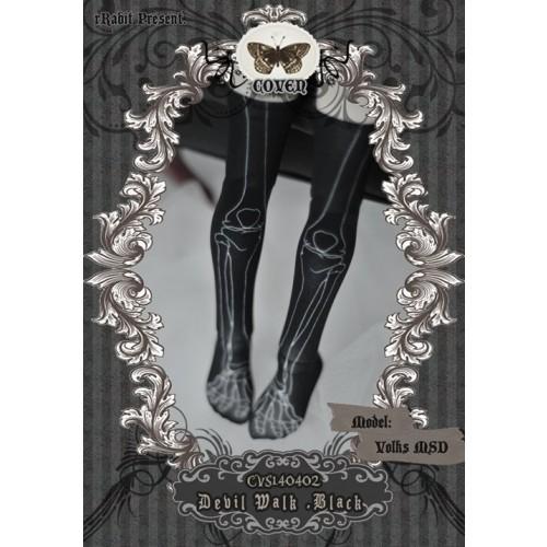 1/4 ♣COVEN♣ Socks CVS140402 Devil Walk ☆ Black