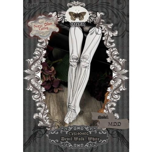 1/4 Socks - ♣COVEN♣ CVS140402 Devil Walk -White ☆ (New Slim cutting)