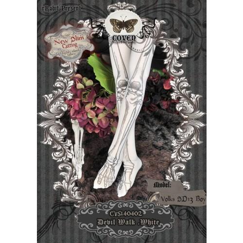 1/3 Socks - ♣COVEN♣ CVS140402 Devil Walk -White ☆ (New Slim cutting)
