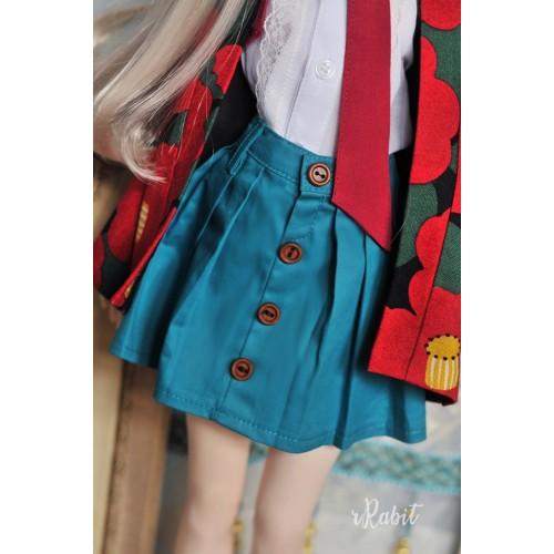 1/3 [Witchcraft Academic] - Paige Skirt - CVZ002 005(Turkish blue)