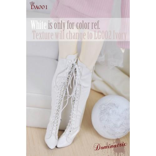 IP EID Girl/ SD17 Boy's size Boot - Dominatrix - Long boots - DA001 White
