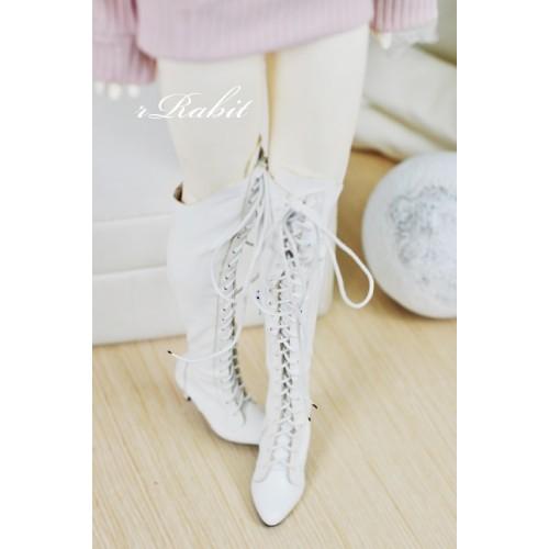 1/3 Girl/DD/SD16 Boot - Dominatrix - Long boots - DA001 White