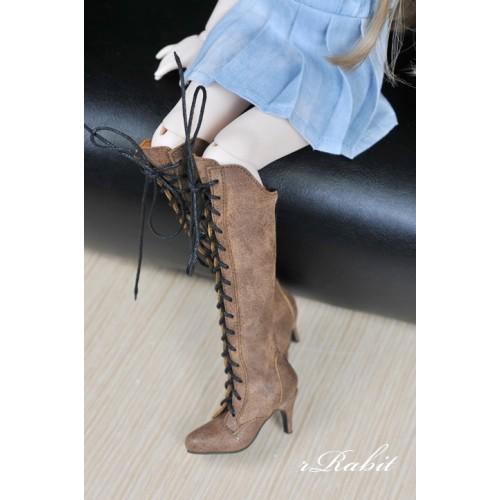 1/4 MSD MDD Angel Philia Fairyland Boot - Dominatrix - Long boots - DA001 Wood