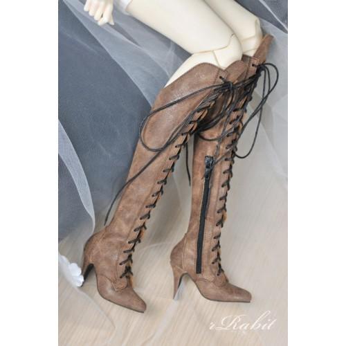 1/3 Girl/DD/SD16 Boot - Dominatrix - Long boots - DA001 Wood