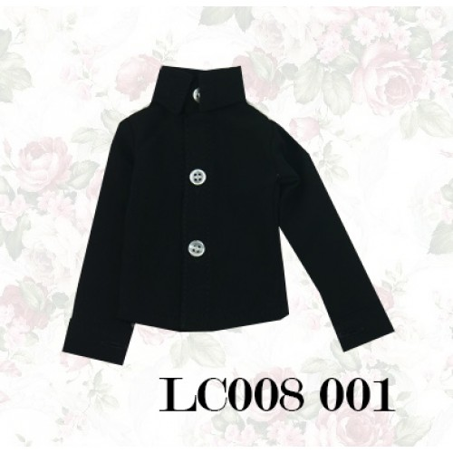 1/4 *Chiffon Plain L/S Shirt - LC008 001 Black