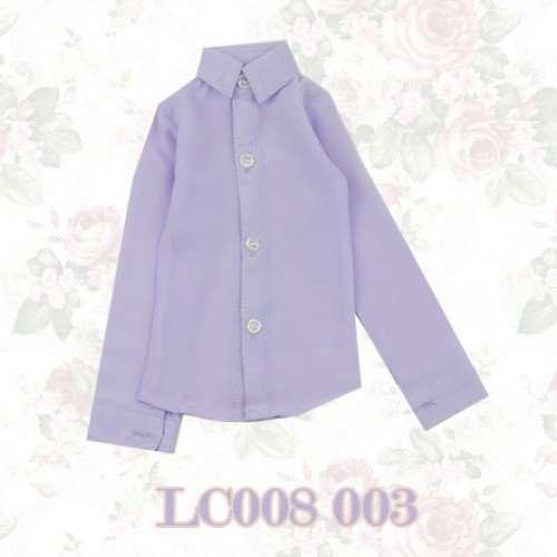 1/3 *Chiffon Plain L/S Shirt - LC008 003 Lilac