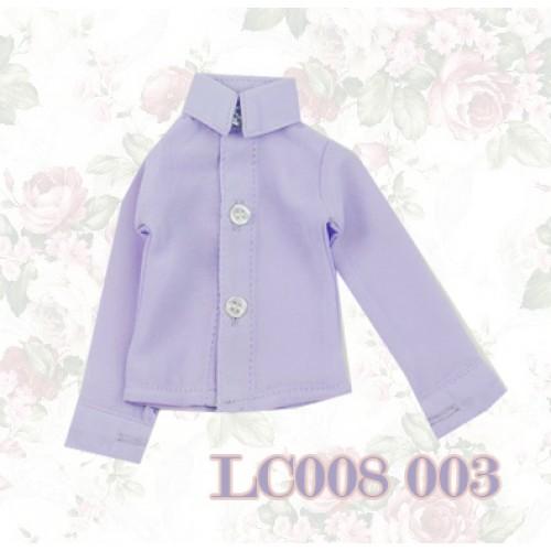 1/4 *Chiffon Plain L/S Shirt - LC008 003 Lilac