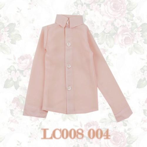 1/3 *Chiffon Plain L/S Shirt - LC008 004 Peach Pink
