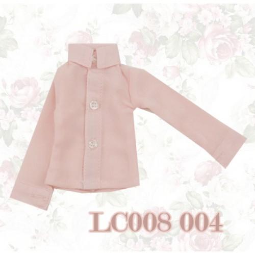 1/4 *Chiffon Plain L/S Shirt - LC008 004 Peach Pink