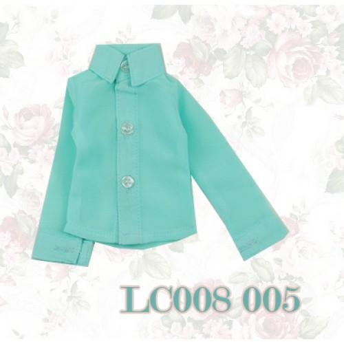 1/4 *Chiffon Plain L/S Shirt - LC008 005 Tiffany blue