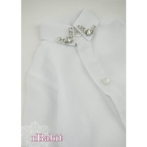 [Limited] 1/3* Chiffon+Stone Shirt - LC009 002 White