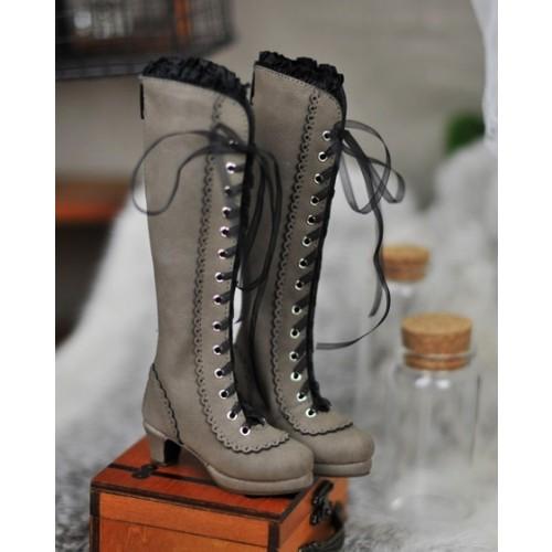 1/4 MSD - LG002 Carving long boot - Grey